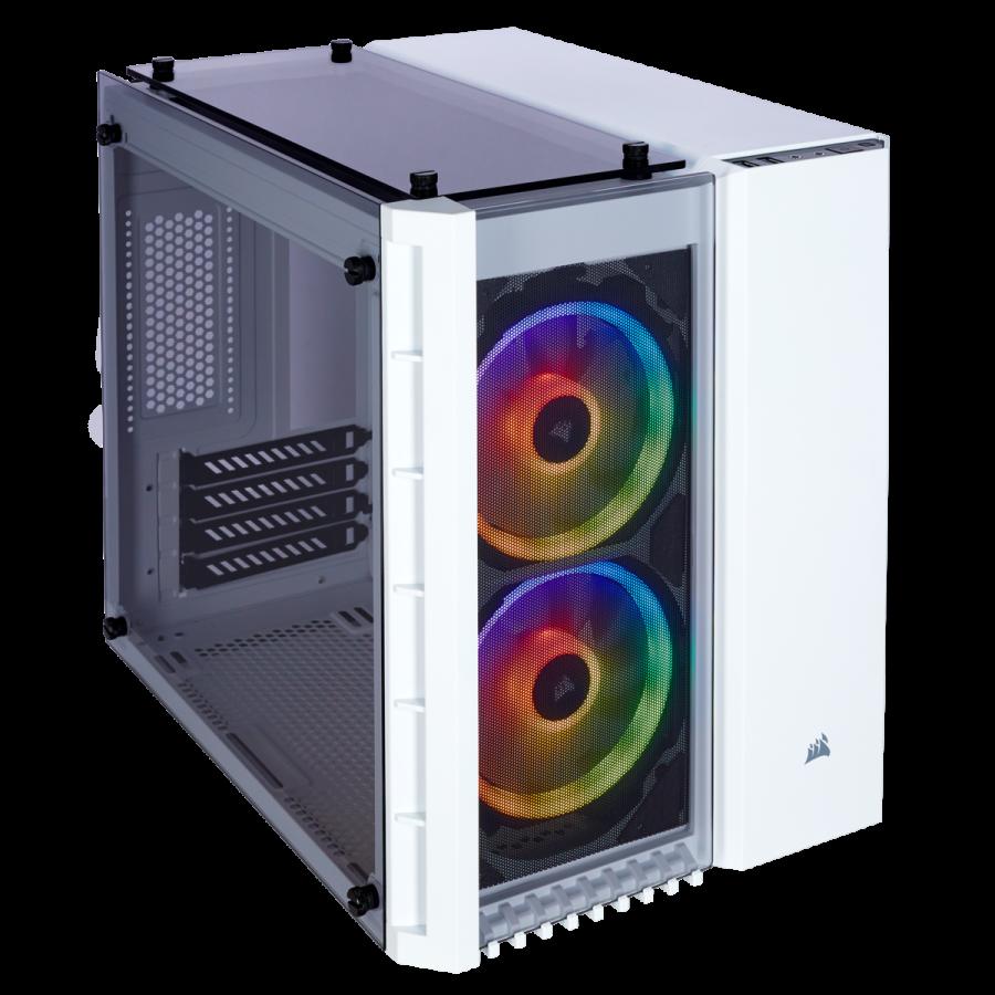 Corsair Crystal 280X White RGB Micro Tower Case CC-9011137-WW