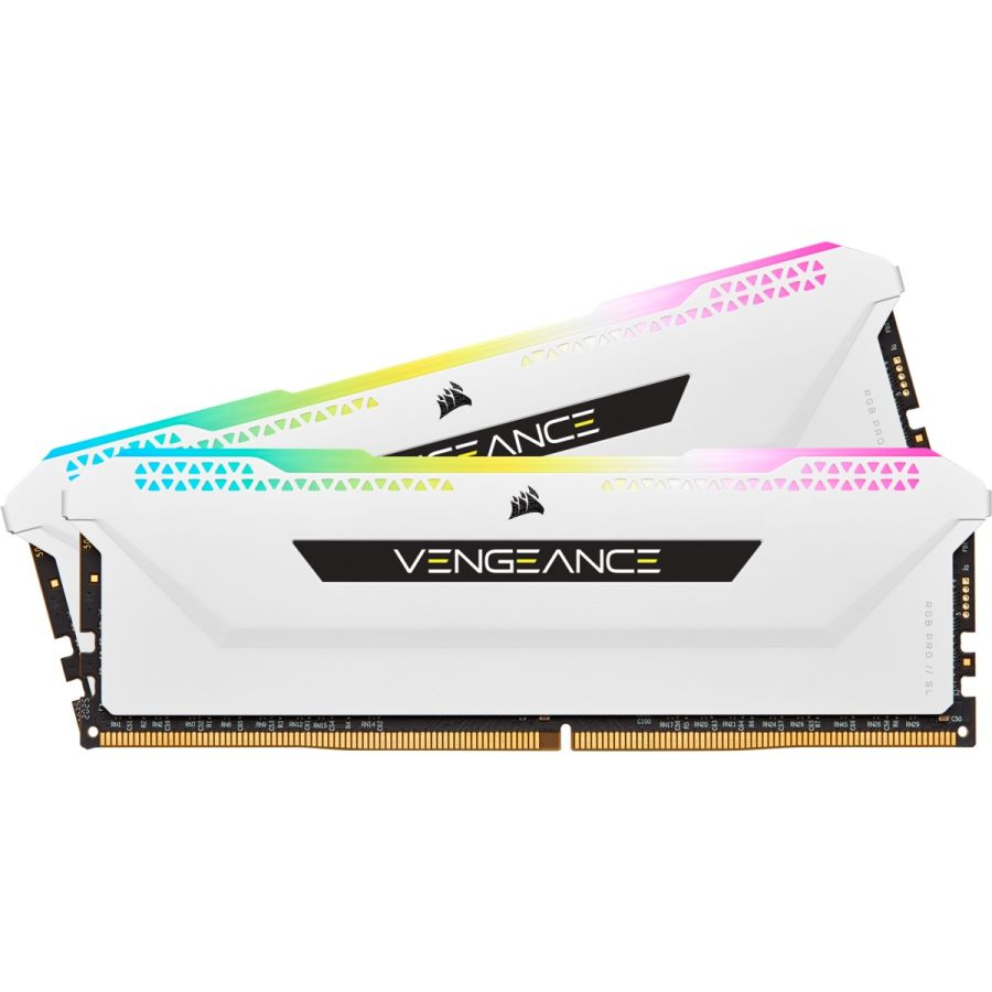 Corsair Vengeance RGB Pro SL 16GB (2 x 8GB) DDR4 3600MHz Memory CMH16GX4M2D3600C18W