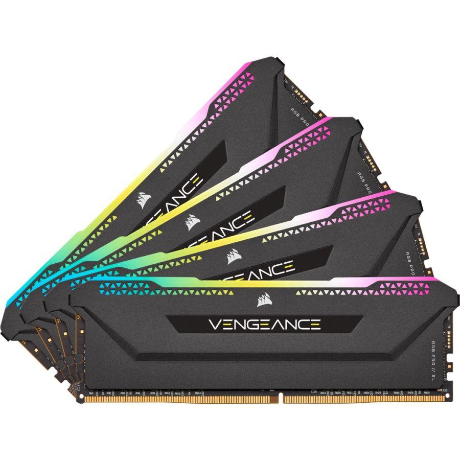 Corsair Vengeance RGB Pro SL 32GB (4 x 8GB) DDR4 3200MHz Memory CMH32GX4M4E3200C16