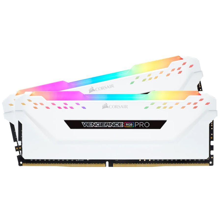 Corsair Vengeance RGB Pro 32GB (2 x 16GB) DDR4 3200MHz Memory CMW32GX4M2E3200C16W