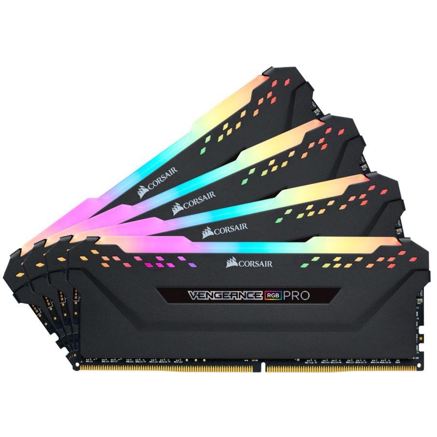 Corsair Vengeance RGB Pro 32GB ( 4 x 8GB ) DDR4 3200MHz Memory CMW32GX4M4C3200C16