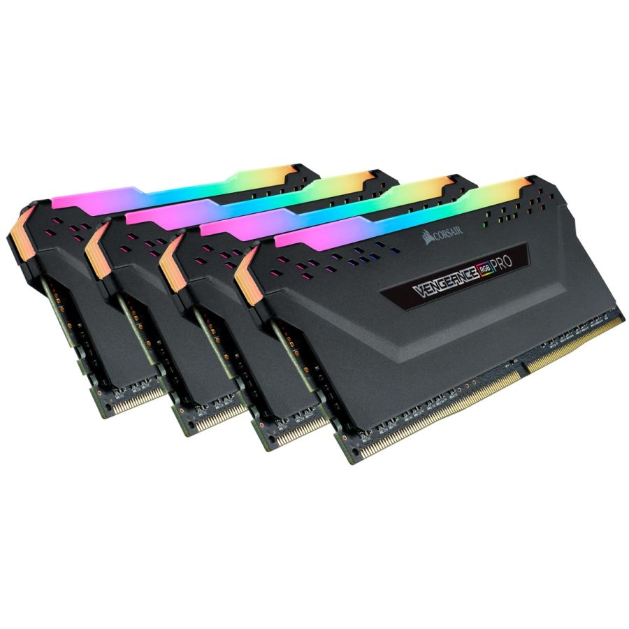 Corsair Vengeance RGB Pro 32GB (4 x 8GB) DDR4 3200MHz Memory CMW32GX4M4Z3200C16