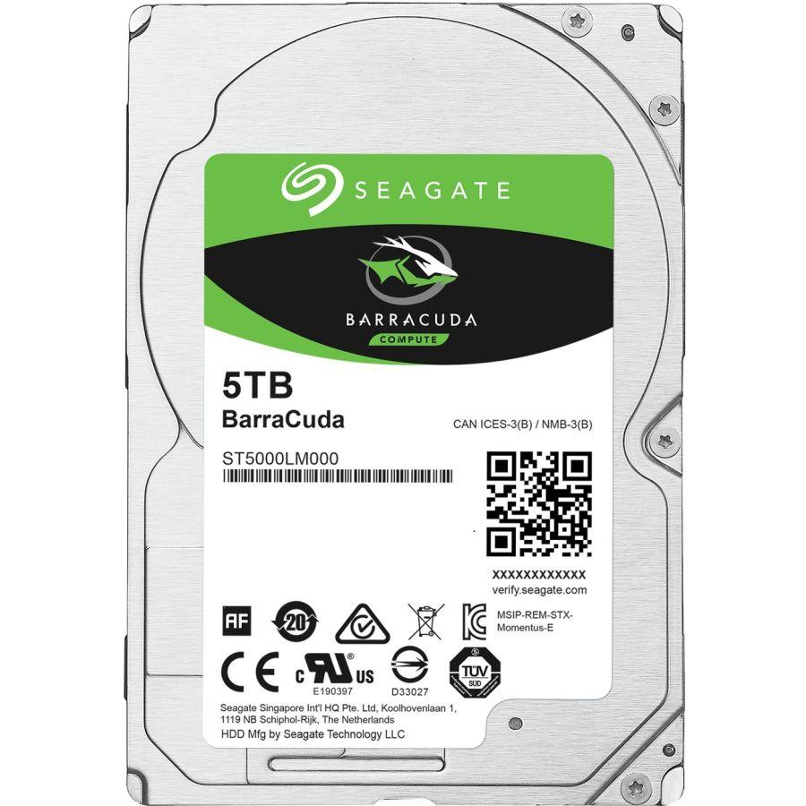 """Seagate BarraCuda 5TB 2.5"""" SATA 6.0Gb/s HDD ST5000LM000"""