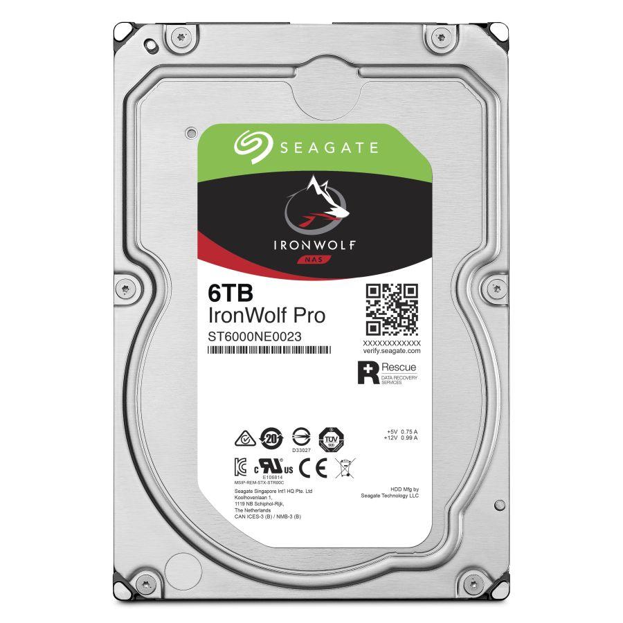 "Seagate IronWolf Pro 6TB 3.5"" SATA 6.0Gb/s HDD ST6000NE0023"