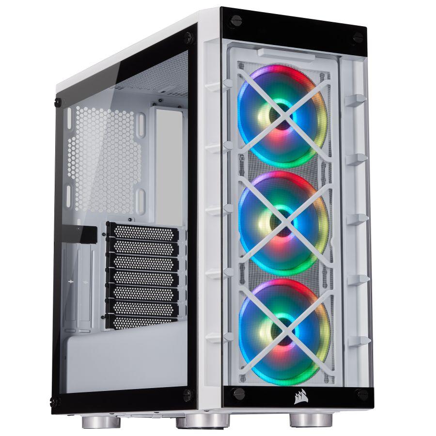 Corsair iCUE 465X RGB White Mid Tower Case CC-9011189-WW