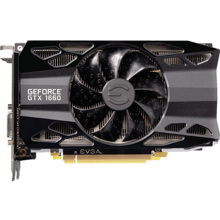 EVGA GeForce GTX 1660 XC 6GB GDDR5 BLACK GAMING Video Card 06G-P4-1161-KR
