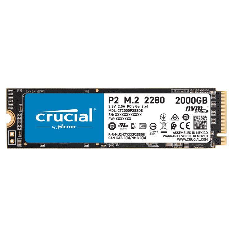 Crucial P2 2TB M.2 2280 NVME SSD CT2000P2SSD8