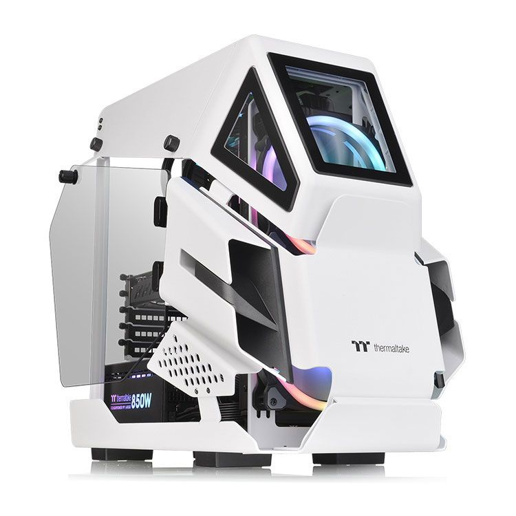 Thermaltake AH T200 Snow Micro ATX Case CA-1R4-00S6WN-00
