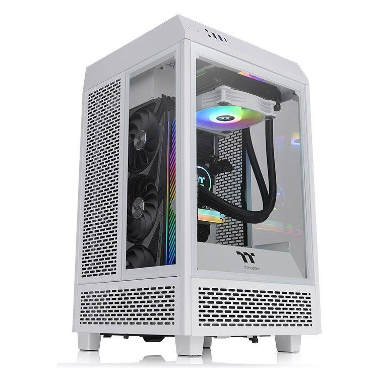 Thermaltake The Tower 100 Snow Mini ITX Case CA-1R3-00S6WN-00
