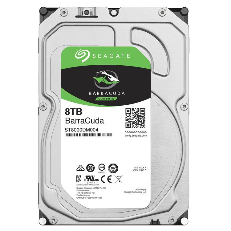 "Seagate BarraCuda 8TB 3.5"" SATA 6.0Gb/s HDD ST8000DM004"