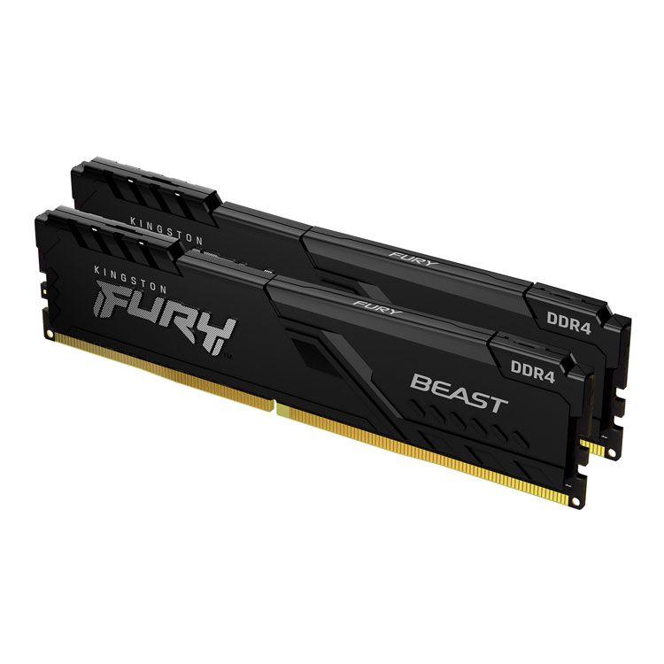 Kingston Fury Beast 16GB (2 x 8GB) DDR4 3200MHz Memory KF432C16RB/8