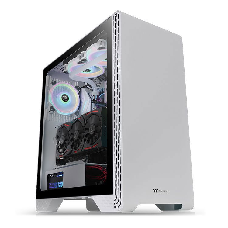 Thermaltake S300 Tempered Glass Snow Edition Mid Tower Case CA-1P5-00M6WN-00