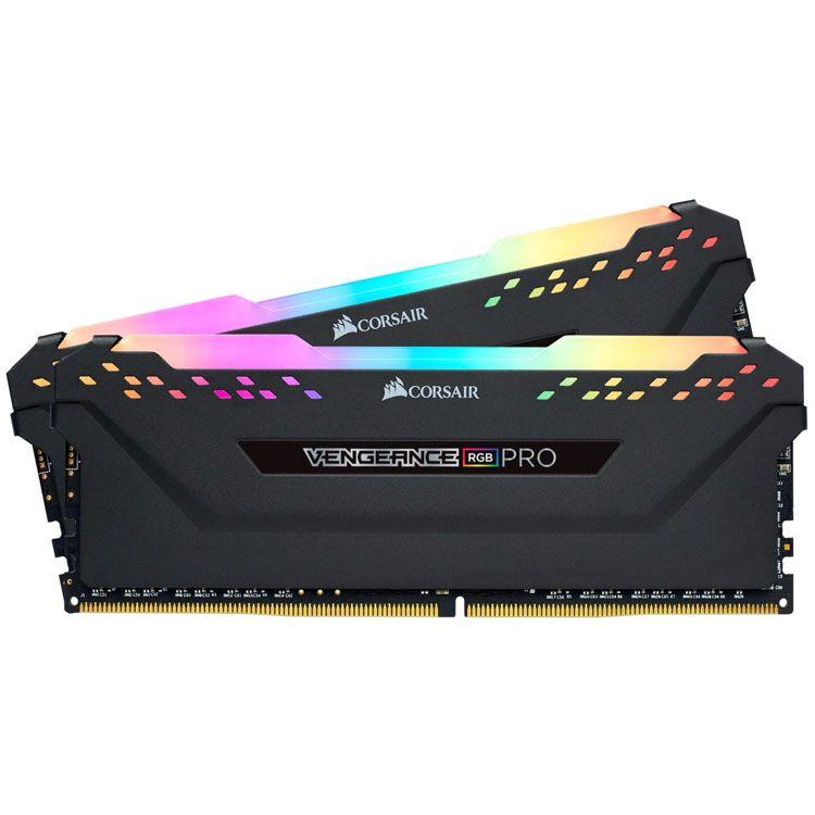 Corsair VENGEANCE RGB PRO 16GB (2 x 8GB) DDR4 3600Mhz Memory CMW16GX4M2Z3600C18