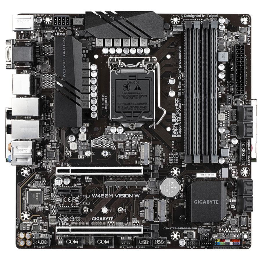 Gigabyte W480M VISION W XEON LGA1200 DDR4 Motherboard MATX