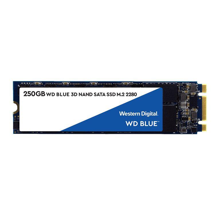 Western Digital Blue 250GB M2 2280 SATA 6Gb/s SSD WDS250G2B0B