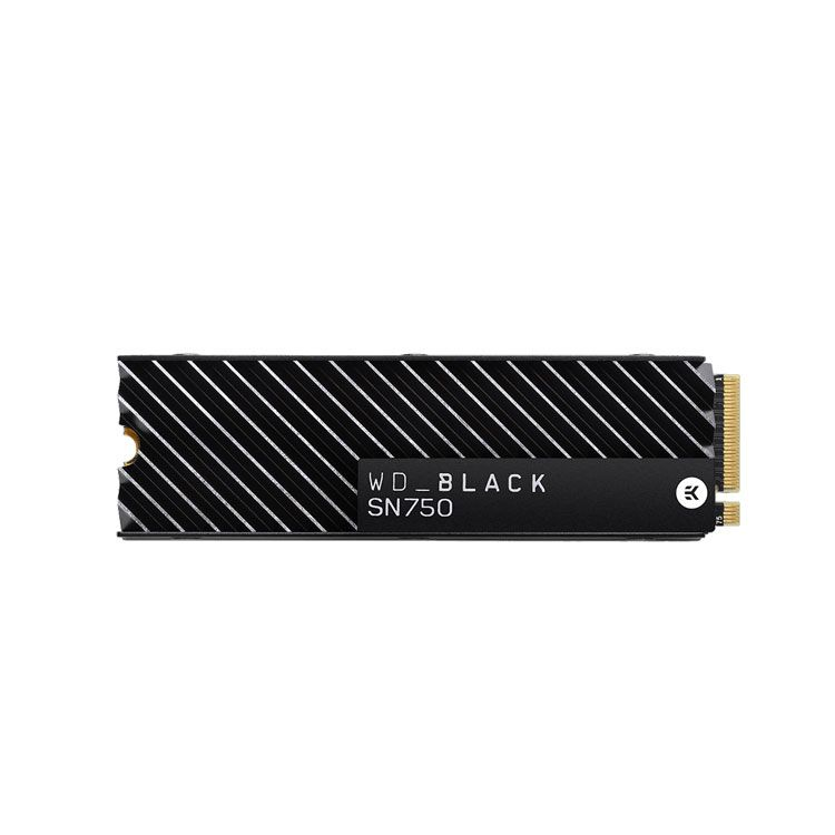 Western Digital Black SN750 with Heatsink 1TB M2 2280 NVMe SSD WDS100T3XHC