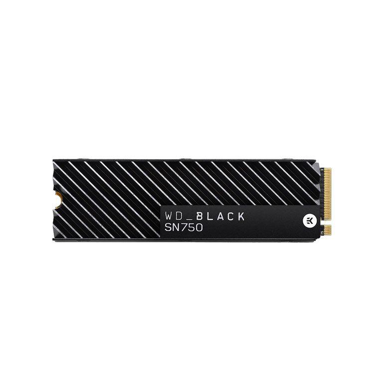 Western Digital Black SN750 with Heatsink 500GB M2 2280 NVMe SSD WDS500G3XHC