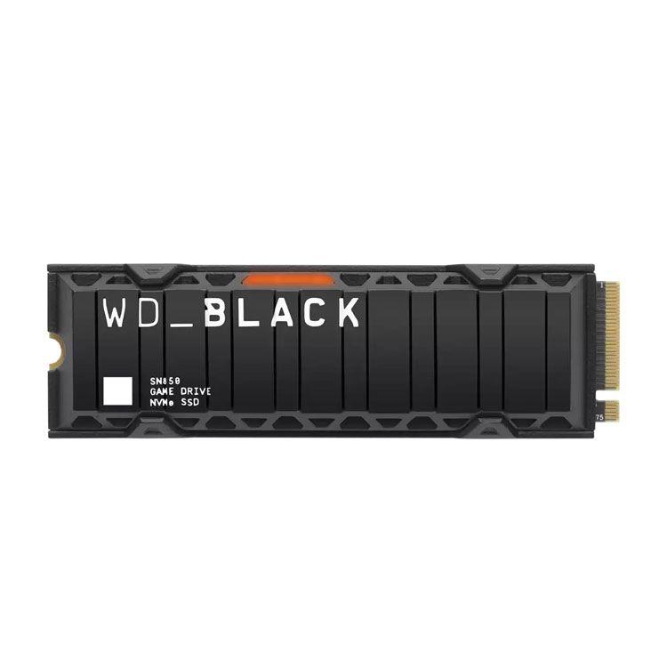 Western Digital Black SN850 with Heatsink 500GB M.2 2280 NVME SSD WDS500G1XHE