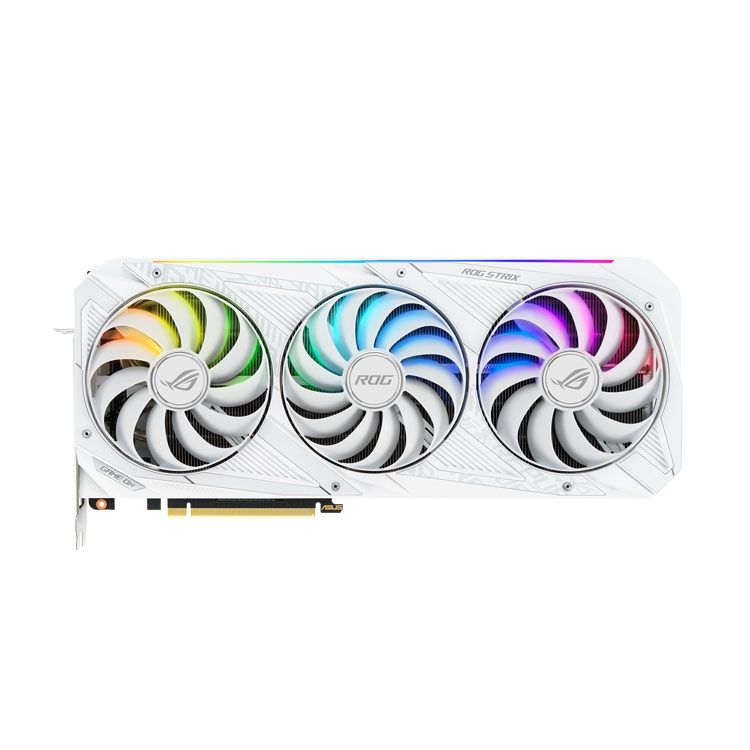 Asus Strix GeForce RTX 3080 OC 10GB GDDR6X with LHR White Video Card STRIX-RTX3080-O10G-WH-V2