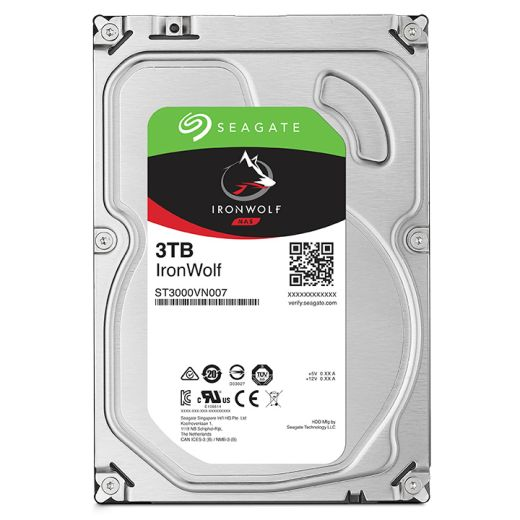 "Seagate IronWolf 3TB 3.5"" SATA HDD ST3000VN007"