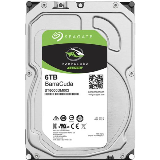 "Seagate BarraCuda 6TB 3.5"" SATA 6.0Gb/s HDD ST6000DM003"