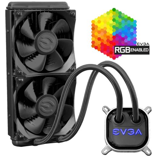 EVGA CLC 240mm RGB LED intel/AMD CPU Cooler 400-HY-CL24-V1