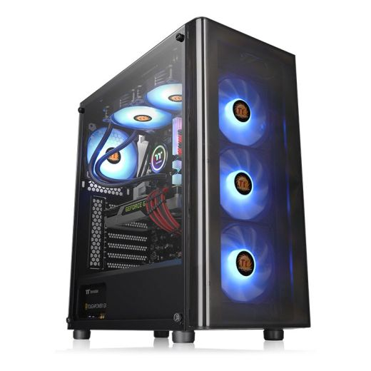 Thermaltake V200 Tempered Glass RGB with 500W PSU Mid Tower Case CA-3K8-50M1WU-00