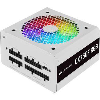 Corsair CX Series CX750F RGB White 750W 80Plus Bronze Fully Modular Power Supply CP-9020227-NA