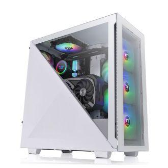 Thermaltake Divider 300 TG Snow ARGB Mid Tower Case CA-1S2-00M6WN-01